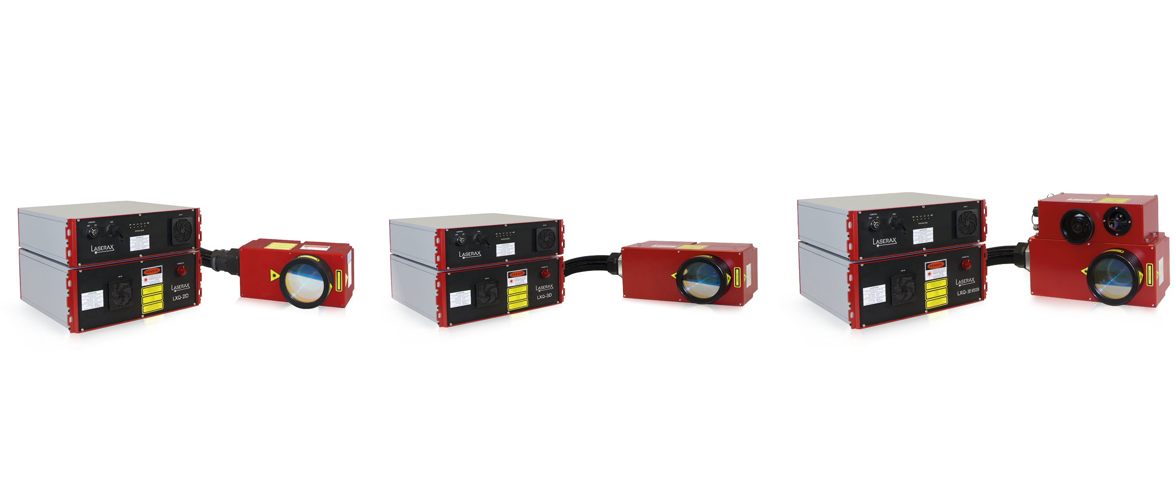 Laserax's Lasers LXQ, LXQ 3D and LWQ 3D Vision