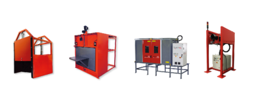 Laserax's Enclosures for conveyors, with rotary tables, Standalone and open-air enclosure.