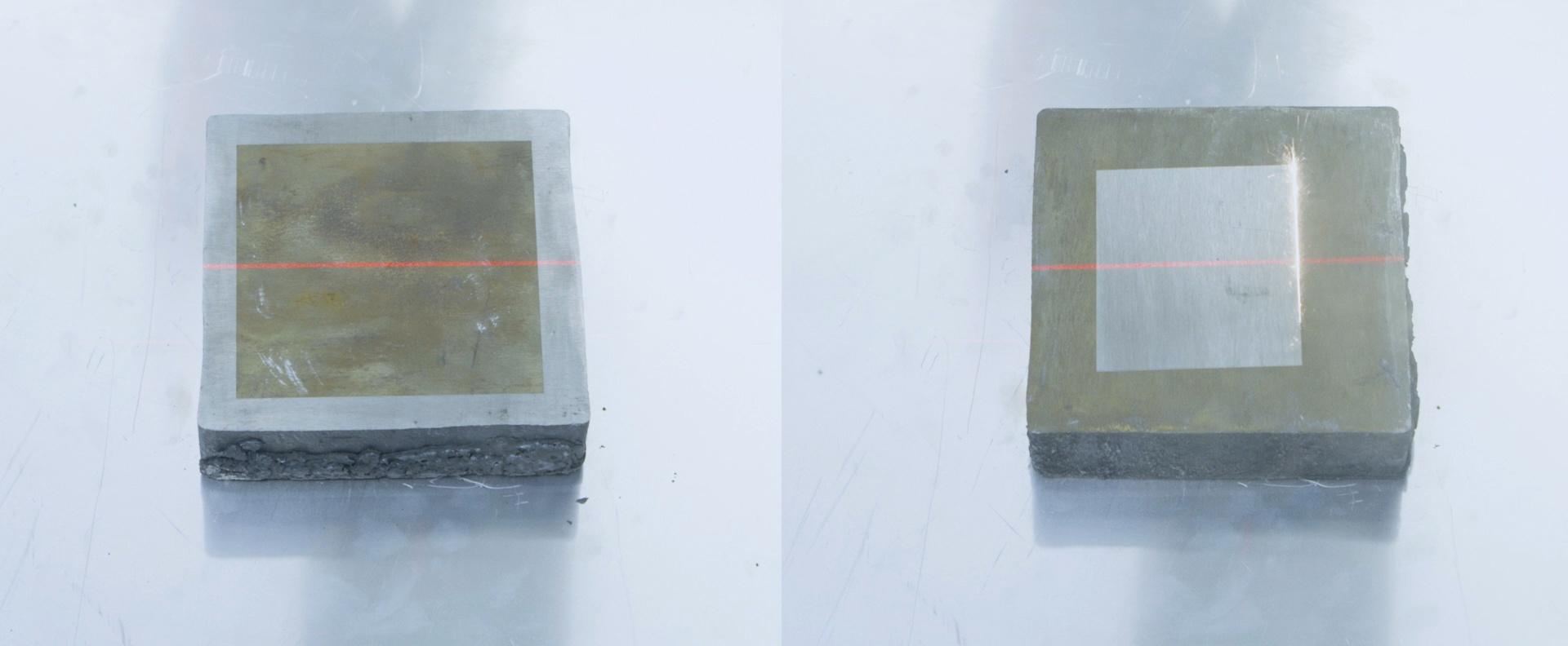 Laser cleaning on aluminum billet