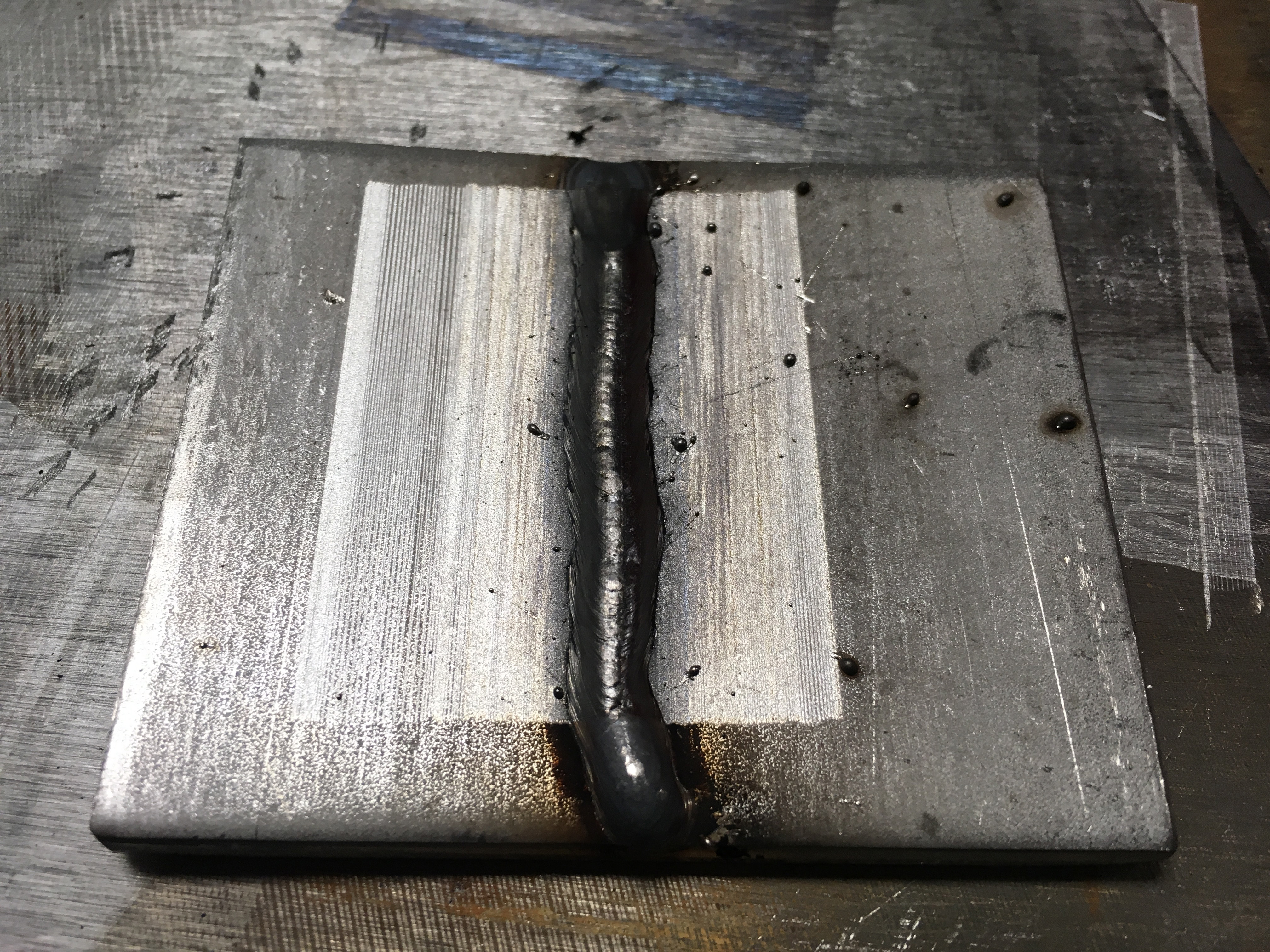 Laser cleaning of weld on stainless steel