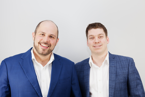 Alex Fraser, chef des technologies et Xavier Godmaire, président de Laserax
