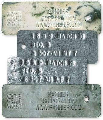Embossed metal tags heat and acid resistant - Pannier